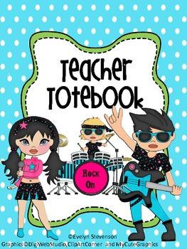 Binder Rock On Teacher Totebook