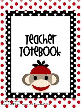 Binder Sock Monkey Teacher Totebook