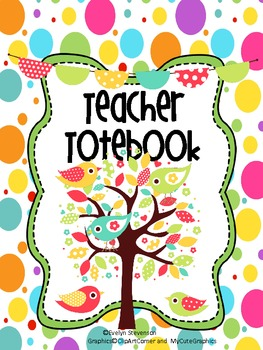 Binder Some Birdie Loves You Teacher Totebook