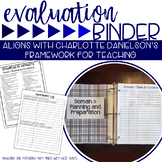 Teacher Evaluation Binder Charlotte Danielson Navy Blue Theme
