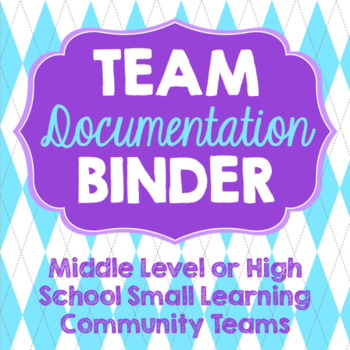 Binder for Team Organization and Documentation- Bright Arg