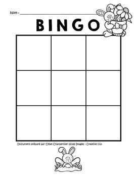 Bingo (9 cases) de Pâques