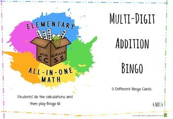 Bingo - Adding Multi-Digit Numbers