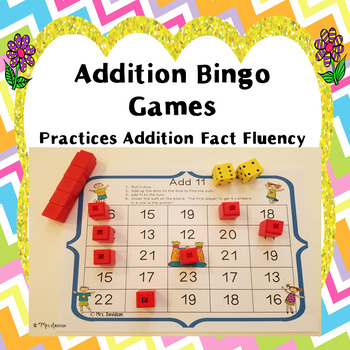 Addition Bingo Games
