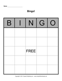 Bingo Board Template 5x5