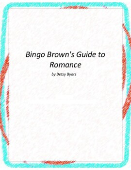 Bingo Brown's Guide to Romance Novel Unit With Literary an
