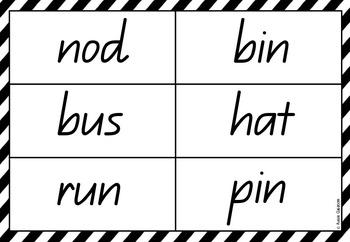 Bingo CVC words/short vowels