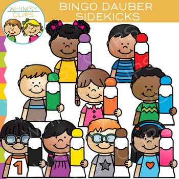 Sidekicks Bingo Dabber Clip Art