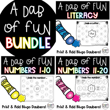 Bingo Dauber Math & Literacy Bundle
