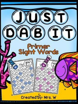Bingo Dauber Printables - Primer Words