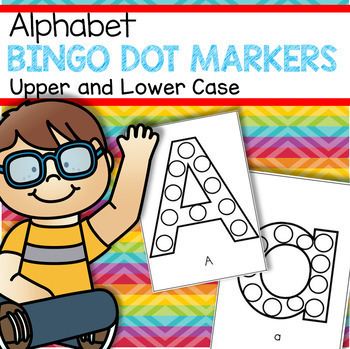 Bingo Dot Marker Alphabet Upper and Lower Case