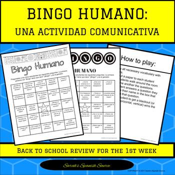 Bingo Humano-Ice Breaker/Speaking Practice