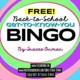 Free Bingo Icebreaker Beginning of Year Includes Blank BINGO Card