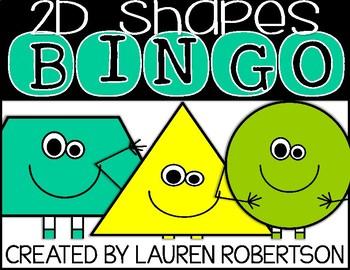 Bingo Math Center- 2D Shapes Edition