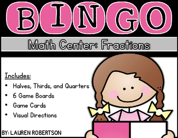 Bingo Math Center- Fraction Edition