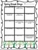 Welcome Back Bingo Packet: Back-to-School, Winter, Spring