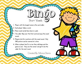 Bingo - Short Vowel