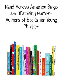 Bingo and Matching Games Picture Book Authors Read Across America