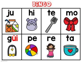 Syllable Bingo -Bingo de las silabas