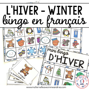 Bingo d'hiver! (FRENCH Winter Bingo)