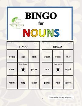 Bingo for Nouns