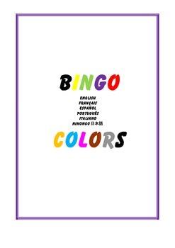 Bingo Colors French Spanish Japanese Italian Portuguese Halloween