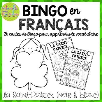 Bingo pour la Saint-Patrick - version noir et blanc