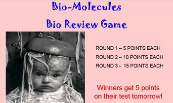Bio-Molecules  Review Game