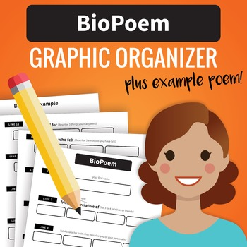 BioPoem (Biographical Poem) Graphic Organizer and Example