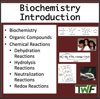 Biochemistry - Senior Biology Introduction PowerPoint Less