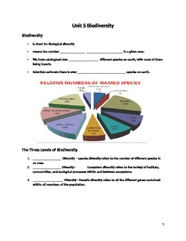 Biodiversity Power Point Guided Notes