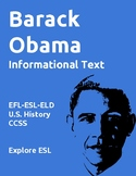 Biographies: Barack Obama-Informational Text-ESL-CCSS Aligned