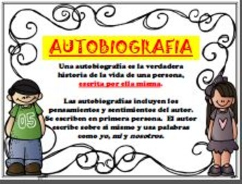 Biography & Autobiography Posters/Anchor Charts (SPANISH &