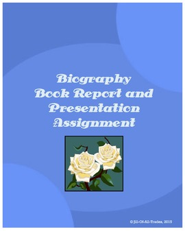 Biography Book Report and Presentation Assignment, grades 4-5