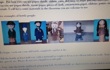 Biography Book Report with Bottle People Visual Presentati