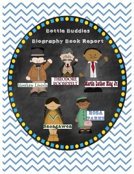 Biography Bottle Buddy Book Report