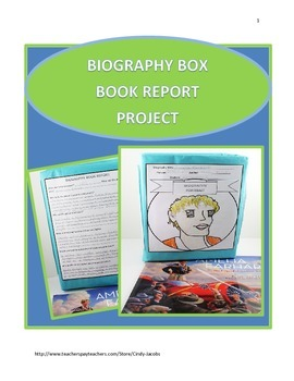 Biography Box Book Report Project