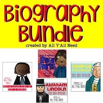 Biography Bundle: Fact and Opinion
