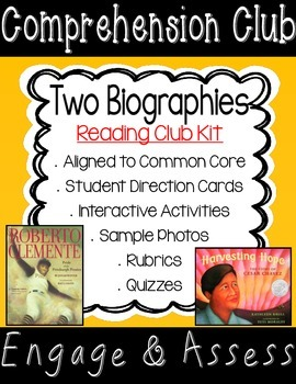 Biography Comprehension Club Kit for Interactive Reading N