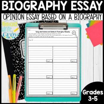 Biography Essays: Opinion Writing Mini-Unit