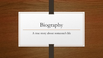 Biography Genre Powerpoint
