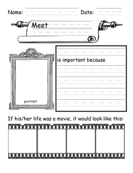 Free Biography Graphic Organizer