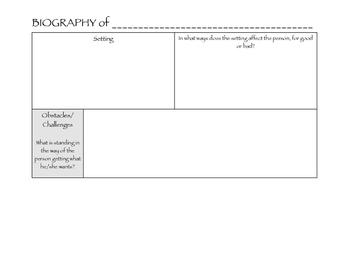 Biography Graphic Organizer