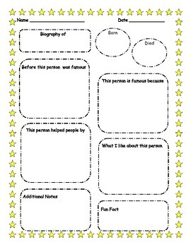 Biography Graphic Organizer/Template