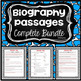 Biography Reading Comprehension Growing Bundle