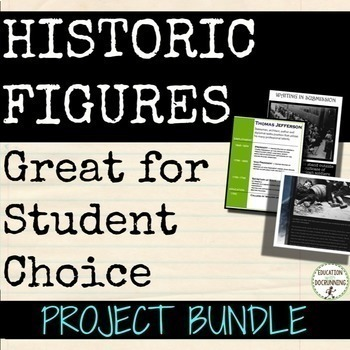 Biography or Historic Figure Project Bundle (SAVE)