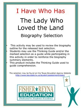 Biography I Have Who Has Lady Who Loved the Land