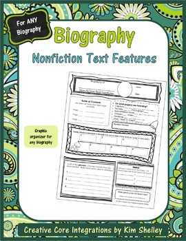 Biography Organizer for Nonfiction Text Features