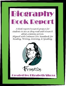 Biography Poster Book Report