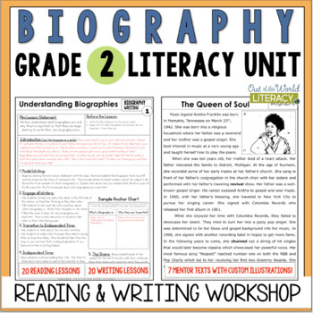 Biography Reading and Writing Unit: Grade 2...40 Lessons w